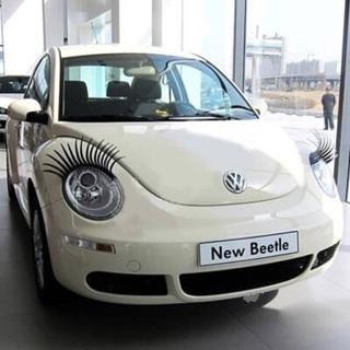 1 PR CAR Headlights Eyelashes