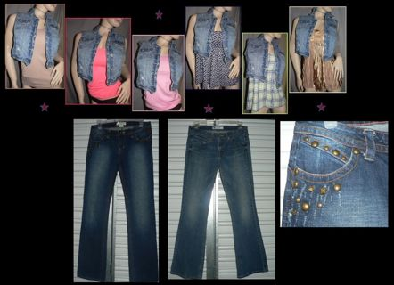 Free: 9 PC Clothing Lot WOMENS Aeropostle TOPS & Jeans -Over $300 in