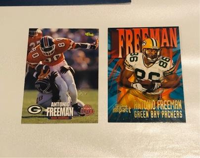 1995 Antonio Freeman RC + 1997 Skybox Impact