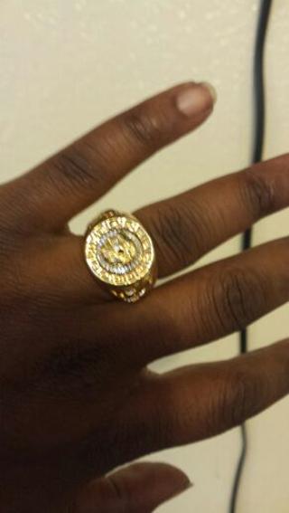 Men's Lion Ring 14k