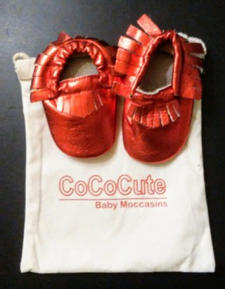New Baby Moccasins CoCo Cute 6-12 M Genuine Leather