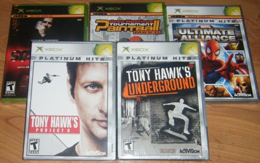 Huge LOT of NEW Microsoft XBOX games - GREAT FOR CHRISTMAS - Bonus with GIN!