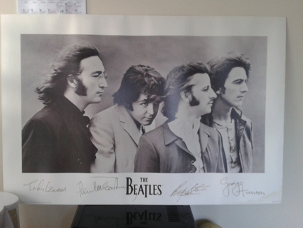 Free Signed Beatles Poster