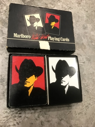 Vintage Double Deck of Marlboro Man Playing Cards