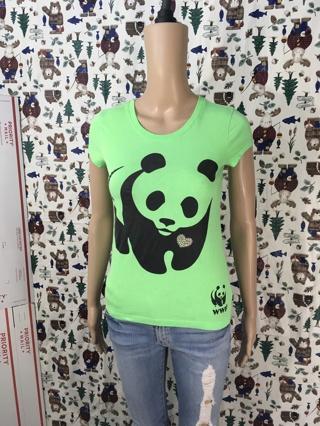 women'S wwf shirt panda logo tee WORLD WILDLIFE FOUNDATION TOP SIZE MEDIUM FREE SHIPPING