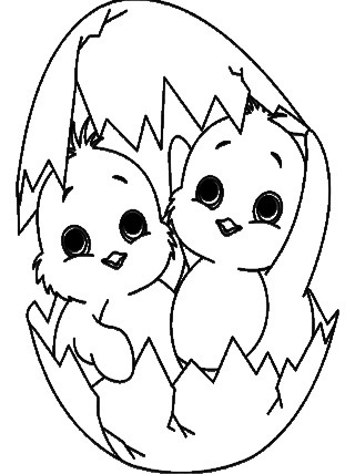 Free Childrens Baby Chick Coloring Page  Other Craft Items