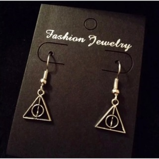 SMALL HARRY POTTER DEATHLY HOLLOW Necklace Earrings Set