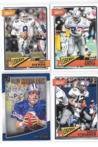 4 Dallas Cowboys ~ Trading Cards ~ HOF'ers