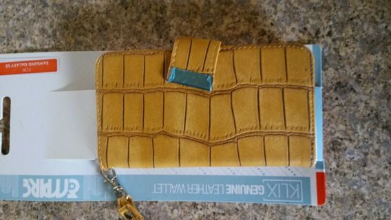 KLIX GENUINE LEATHER CELL PHONE WALLET