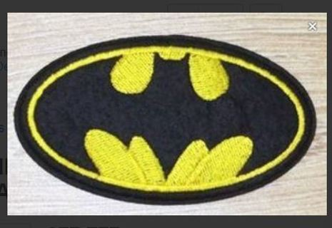 1 NEW BATMAN Symbol Logo IRON ON Patch DC Clothing accessories Embroidery Applique (4.3 x 2.7.IN)