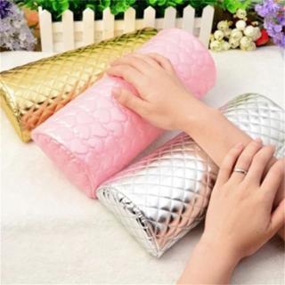 1PC Professional Hand Cushion Holder Soft PU Leather Sponge Arm Rest Love Heart Design Nail Pillow