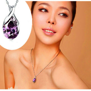 Natural Gemstone Stone Amethyst Pendant For Necklace