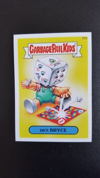 2015 Garbage Pail Kids Sticker Card #22a • DICE BRYCE • See photos for details