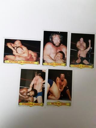5. 1985 WWF WRESTLING CARDS