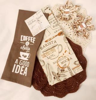 Crochet 2 - 9 inch handmade Dish cloths 2 FLOUR SAC TOWELS 2 FLOWER MAGNETS