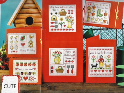 """NEW """"HOME COMFORTS"""" COUNTED XSTITCH PATTERN by SUSAN BATES  CARDS COUNTRY KITCHEN MOTIFS-FREE SHIP"""