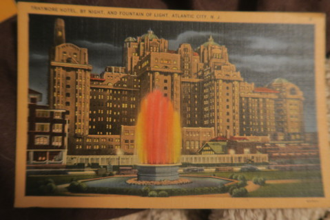 Traymore Hotel Atlantic City NJ Linen postcard