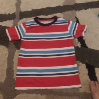 Little Boys striped shirt size 6/7 like new