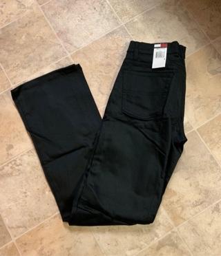 WOMEM'S TOMMY HILFIGURE BLACK PANTS