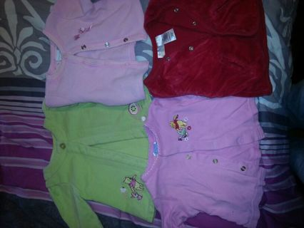 lot of girls 3/6 month jackets