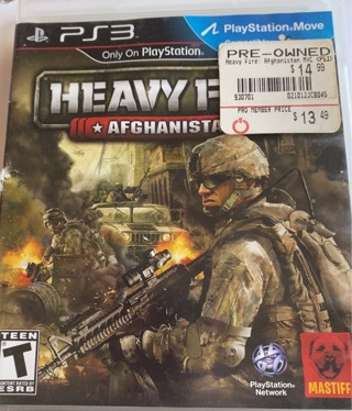 PS3 Heavy Fire Afghanistan video Game