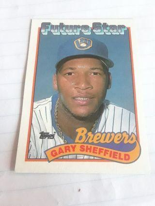 GARY SHEFFIELD 1989 TOPPS FUTURE STARS