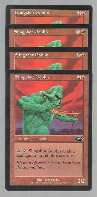 MtG, playset, slingshot goblin