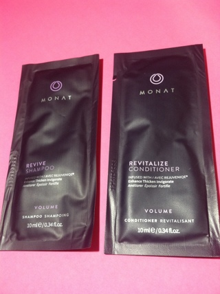 very expensive Monat revive and revitalize hair shampoo conditioner samples 100% natural