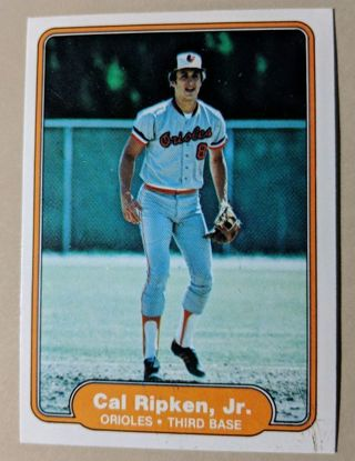 CAL RIPKEN JR ROOKIE CARD
