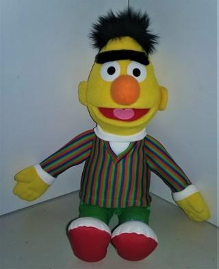 "2014 Sesame Street stuffed BERT character doll by GUND - 15"" tall - 6 oz. - Excellent condition"