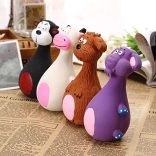 Cute Dog Toy Play Pet Puppy Chew Squeaker Squeaky Plush Sound Toys