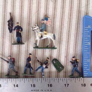 Antique lead Civil War soldiers