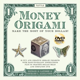 NEW Money Origami Kit: Practice Origami Paper Dollars & Instructional DVD Included FREE SHIPPING