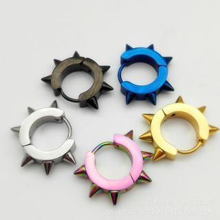 [GIN FOR FREE SHIPPING] Gothic Punk Stud Earrings 316L Stainless Steel Rivet Spike