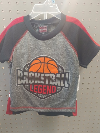 "NWT! Mad Game Baby Boys 2pc set ""BASKETBALL LEGEND"" Size: 12mths 100% POLYESTER"
