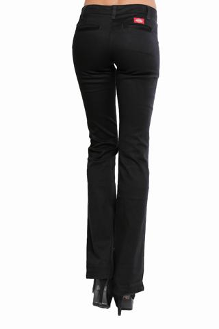 Black ladies Dickies pants.