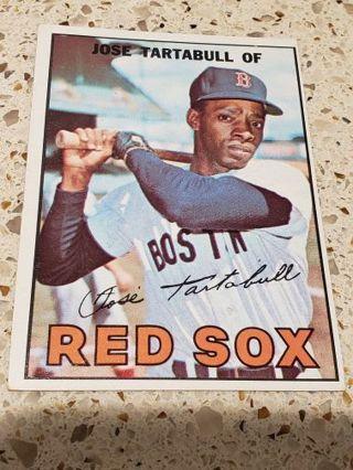 1967 Jose Tartabull Boston red Sox vintage baseball card