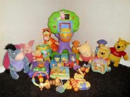 Free  Winnie the Pooh Lot of Developmental Baby Infant Toddler Toys ... 69b4decb8f62