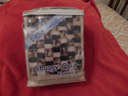 shaggy quilt blanket kit