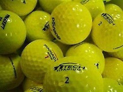 Used Golf Orange Colored Mix Balls 100 (Balls) of AAAAA Grade Used Golf Balls Assorted Brands