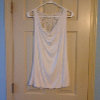 Ivory top with beautiful lace accent