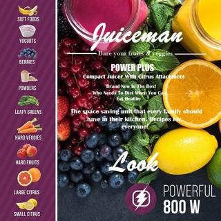 NIB! Start Your Year Off Healthy! JUICEMAN Power Plus Compact Juicer w/Citrus Attachment JM850