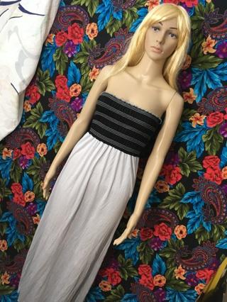 GORGEOUS MAXI DRESS BLACK & GREY 3XL