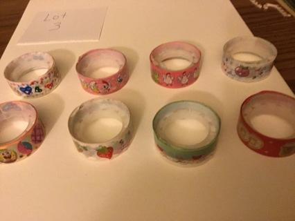 8 Rolls of Cute Washi Tape — lot 3