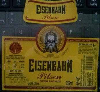 EISENBAHN PILSEN beer labels