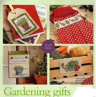 """NEW """"GARDENING GIFTS"""" COUNTED XSTITCH PATTERNS-OVER 35 MOTIFS-FREE SHIP"""