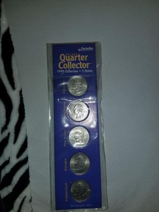 Collectible Checkerbee Publishing Quarter Collector 1999 Collection 5 States BNIP