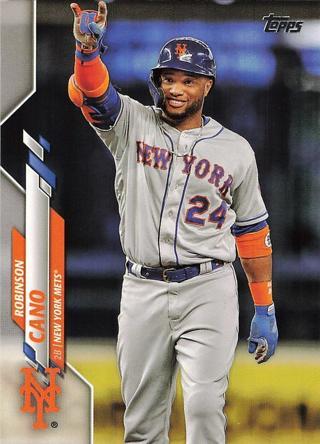 2020 Topps #4 Robinson Cano New York Mets