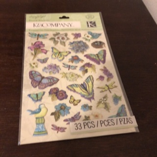 K & company dimensional butterfly stickers