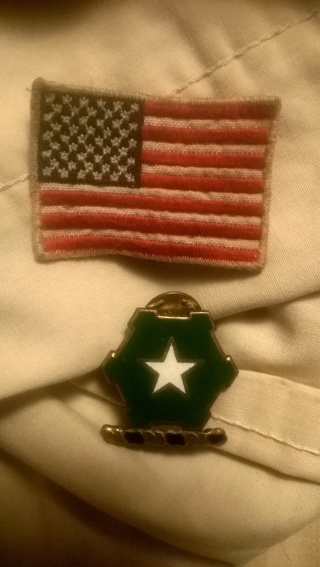 Flag patch and a pin